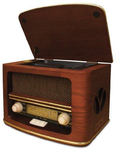 Camry CR 1109 Retro Radio LW-FM mit CD-MP3 Player und USB-Anschluss braun