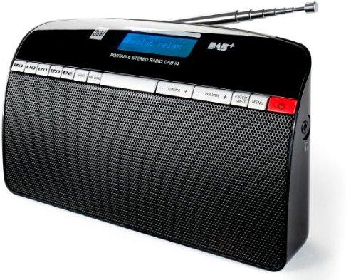 Dual DAB 14 Digitalradio (UKW-DAB+-DAB-Tuner, Senderspeicher, 2x 1 Watt, Stereo) schwarz