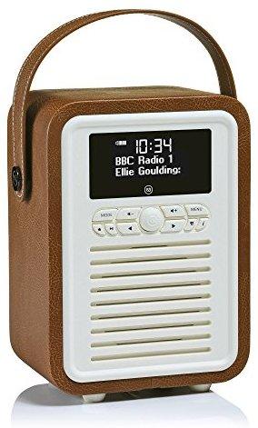 VQ (Vormals View Quest) VQ-MINI-BR Retro Mini DAB+ Radio mit Bluetooth-Lautsprecher Braun