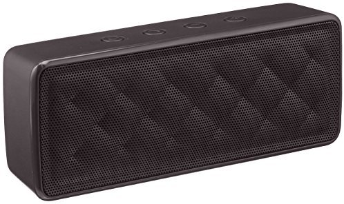 AmazonBasics - Tragbarer Bluetooth-Lautsprecher, Schwarz