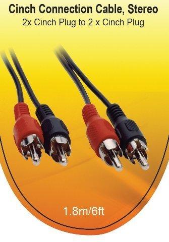 V7 Audio Kabel Cinch Stecker auf Stecker, 1,8m schwarz