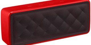 AmazonBasics - Tragbarer Bluetooth-Lautsprecher, Rot