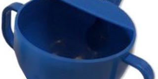 Dr. Junghans Medical 29301 Krankentasse-Schnabeltasse mit 2 Griffen,blau