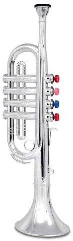 Bontempi Toy TR3802N - Trompete mit 4 farbigen Ventilen, 37cm
