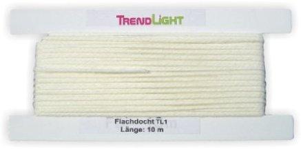 TrendLight 860465 Kerzendocht, Flachdocht TL1 10 m bis 2 cm Durchmesser