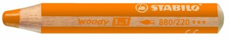 STABILO woody 3 in 1 Einzelstift gelborange - Multitalent-Stift