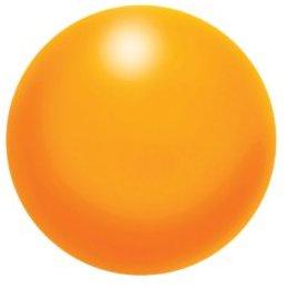 Aidapt VM708 Knautschball aus Schaum (Stressball), orange
