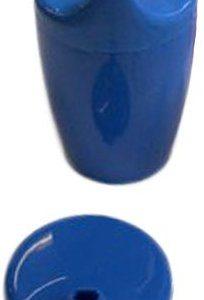 Dr. Junghans Medical 29054 Einnehmebecher ohne Griff, blau, 2 Deckel 4-12 mm