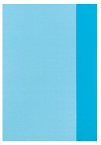 herlitz Heftschoner DIN A4, PP, transparent-blau VEeq1