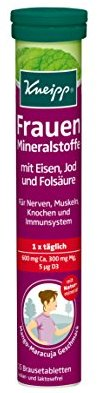 Kneipp  Frauen Mineralstoffe 15 Brausetabletten, 1er Pack (1 x  94 g Packung)
