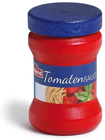 "Erzi 6,1 x 3,9 cm ""Holz Supermarkt Tomaten Sauce"" Spielset"