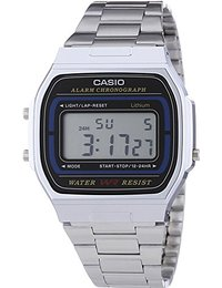 Casio Collection - Unisex-Armbanduhr mit Digital-Display und Edelstahlarmband - A164WA-1VES
