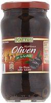 Kattus Spanische schwarze Oliven, in Scheiben, 1er Pack (1 x 345 g)