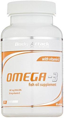 Body Attack Omega-3 Kapseln, 1er Pack (1x 90 Kapseln) Dose