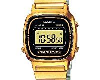 Casio Collection - Damen-Armbanduhr mit Digital-Display und Edelstahlarmband - LA670WEGA-1EF