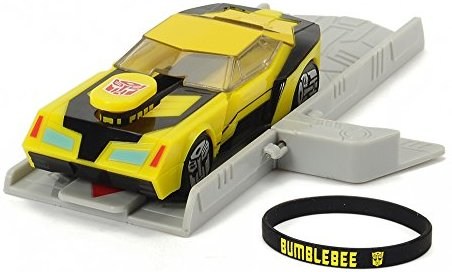 Dickie Toys 203112001 - Mission Racer Bumblebee, Transformers Fahrzeug, 11 cm