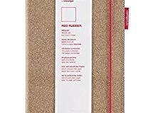 transotype senseBook RED RUBBER Design Notizbuch, medium - ca. A5, blanko, weitere Varianten auswahlbar, mit rotem Gummiband, ed