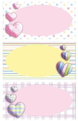 Avery Zweckform 59680 BuchEtiketten Herzen (starker Halt) 9 Aufkleber