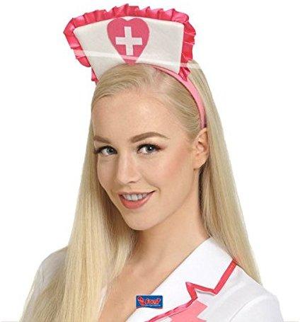 Folat Krankenschwester Hat Tiara (One Size, Pink)