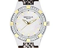 Mike Ellis New York Damen-Armbanduhr Luxury Analog Quarz Leder SL2968A1