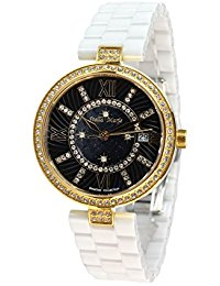 Stella Maris Damen Armbanduhr - Analog Quarz - Premium Keramik Armband - Perlmutt Zifferblatt - Diamanten und Swarovski Elemente