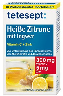 Tetesept Heisse Zitrone mit Ingwer, 10 Beutel, 1er Pack