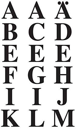 Avery Zweckform 3723 Buchstaben Etiketten (A-Z 15,5 mm, Folie, starker Halt) 36 Aufkleber