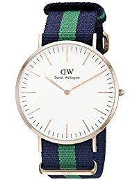 Daniel Wellington Herren-Armbanduhr XL Warwick Analog Quarz Nylon DW00100005