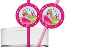 """Susy Card 11450160 Trinkhalme """"Princess"""", 10-er Pack"""