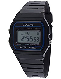 Coolife Unisex-Armbanduhr Retro Style Watches Digital Quarz Plastik CL2013G901