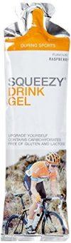 Squeezy Sports Nutrition Drink Gel 60-ml-Beutel, Geschmack Himbeere, 3er Pack (1 x 0.18 kg)