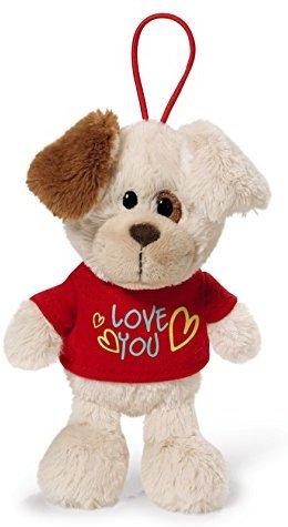 Nici 40183.0 - Hund mit T-Shirt Love you 15 cm mit Loop