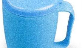 Dr. Junghans Medical 29058 Einnehmebecher mit Griff blau - 2 Deckel 4-12 mm