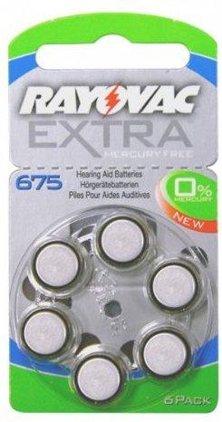 Rayovac BRA001 Batterien A675