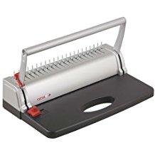 Genie CB 800 Spiralbindegerat (bis 145 Blatt, DIN A4, Inkl. Plastikbinderucken-Set) silber-schwarz