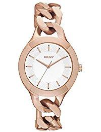 DKNY Damen-Armbanduhr Analog Quarz Edelstahl beschichtet NY2218