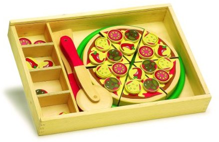 Small Foot Company 1686 - Schneide Pizza aus Holz