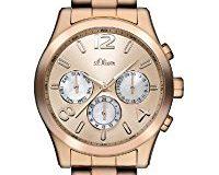 s.Oliver Damen-Armbanduhr Analog Edelstahl beschichtet SO-2394-MM