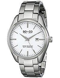 SO&CO New York Madison Herren-Armbanduhr Analog Quarz Edelstahl - 5101.1