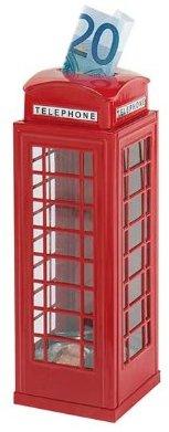 Spardose mit Telefonzellendesign