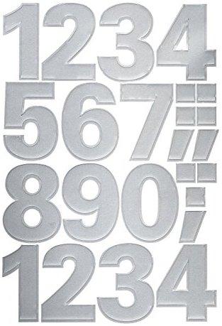 Avery Zweckform 59126 Zahlen Etiketten (0-9 25 mm, wetterfeste Folie) 48 Aufkleber
