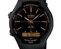 Casio Collection - Herren-Armbanduhr mit Analog-Digital-Display und Resin-Armband - AW-90H-9EVEF