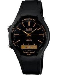 Casio Collection - Herren-Armbanduhr mit Analog-Digital-Display und Resin-Armband - AW-90H-9EVEF