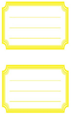 Avery Zweckform 59689 BuchEtiketten Rahmen gelb (starker Halt) 12 Aufkleber