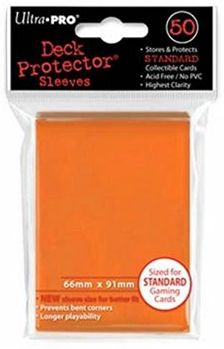 Ultra Pro 82673 - Deck-Schutz Standard Sleeves, orange