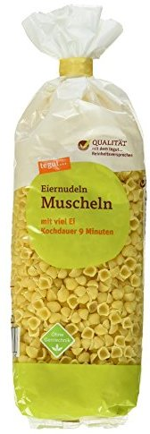 Tegut Eiernudel Muscheln, 9er Pack (9 x 250 g)