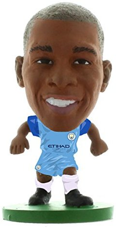 SoccerStarz SOC442 - Man City Fernandinho Actionfigur - Home Kit, 2017 Version
