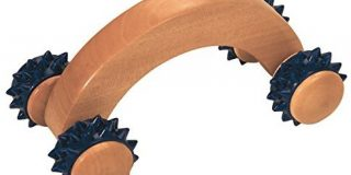 Croll & Denecke Massagehandroller aus Holz, 4 Rollen
