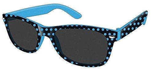 Montana Eyewear Sunoptic 963A Kinder Sonnenbrille in schwarz plus blau gepunktet