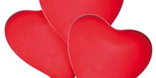 "Susy Card 40011462 - Luftballons ""Heart"", 4er Packung"